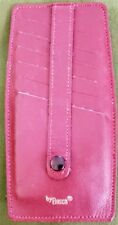 Red Bosca Faux Leather Credit Card Holder Wallet