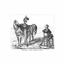 FRANCE Soldiers of the Garde Nationale with Horse - Antique Print 1836