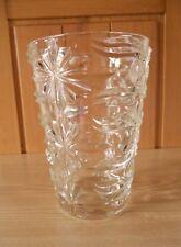 Art Floral & Déco - Vintage ♥ Grand & Gros Vase Verre Ciselé ♥ Co Neuf