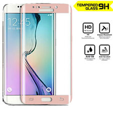 Genuine 3D Tempered Glass Screen Protector for Samsung Galaxy S7 Edge Rose Gold