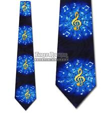 Music Tie Treble Clef Neckties Mens Musician Notes Neck Tie Brand New