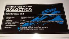 Sticker for Lego® MOC-9424 Battlestar Galactica Viper UCS Custom plate