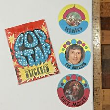 1970S POP STAR FABRIC STICKERS THE KINKS UDO JURGENS MICK JAGGER #2 HOLLAND NM!