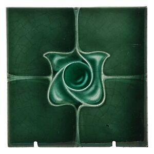 Very Rare Original Henry Richards - C1905 Art Nouveau Majolica Tile