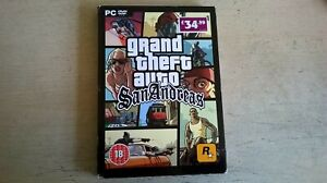 GRAND THEFT AUTO : SAN ANDREAS - PC GAME - ORIGINAL & COMPLETE WITH MANUAL & MAP
