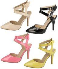 Femmes Anne Michelle Bride Cheville Fermeture Chaussures De Soirée F9760