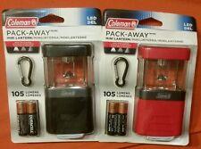 Pack-Away Coleman Mini Lantern LED light 105 Lumens Red or Black