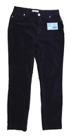 Womens Per Una Blue Cotton Blend Trousers Size 10/L27