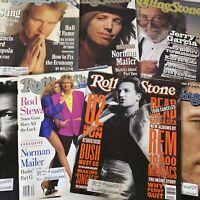 (7) Vtg Rolling Stone Magazines 1990's Musicians Rock