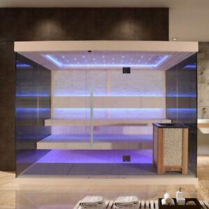 EO-SPA Sauna E1240C Pappelholz /250x180/12kW EOS Cubo