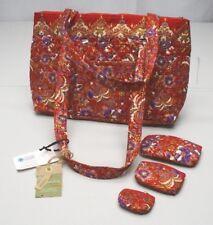 Alternative Earth Red Floral ECO Poppy Shoulder Bag Satchel Purse 4pc Set NWTs