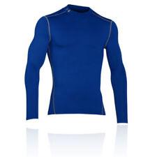Maglia da uomo blu per palestra, fitness, corsa e yoga taglia L