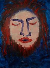 Shag Man by the artist Rodster 11X14-Original Acrylic Canvas - Fauvism
