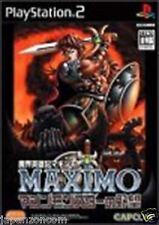 Used PS2  Maximo vs. Army of Zin Capcom  SONY PLAYSTATION JAPAN IMPORT