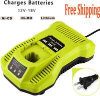 Battery Charger  for Ryobi P117 P118 12V-18V One+ Plus P104 P108 Lithium Battery
