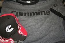 MEDIUM cummins dodge trucker ball cap hat t shirt combo diesel gear cummings kw