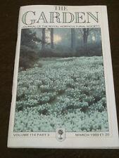 RHS - THE GARDEN - MARCH 1989 VOL 114 # 3 - BONSAI & ROSES