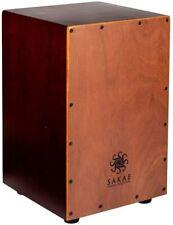 Sakae CAJ-100 Deluxe Snare Cajon Drum, Dark Wood Finish
