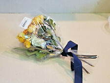 Real Air Dried 12 Stems Yellow Roses Flowers Rustic Bouquet (New)