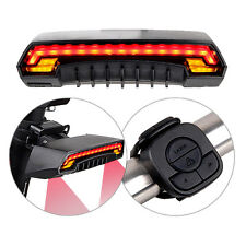 LED Bicycle Bike Indicator Signal Rear Tail Laser Light Wireless Remote Control