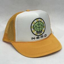 NERD Neptunes Trucker Hat! Vintage Style Snapback Cap! N*E*R*D Pharrell Yellow