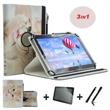 """3 IN 1 SET Screen Protector + 10.1"""" Case Cover For ARCHOS 101c Copper"""