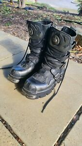 New Rock Reactor Leather Boots