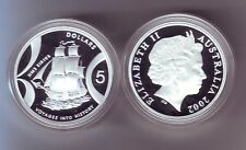 2002 Silver $5 Proof Coin HMS Sirius Sailing Ship ex Masterpieces in Set