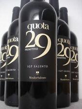 6 FL QUOTA 29 Primitivo 2015 MENHIR Salento Apulien Italien Rotwein trocken