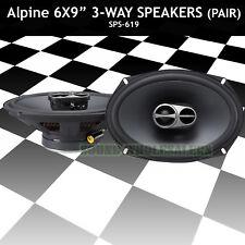"ALPINE 6x9"" COAXIAL 3 WAY 260W WIDE RANGE CAR AUDIO SPEAKERS SPS-619 (Pair) NEW!"