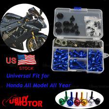 Honda CBR900RR CBR954 2002 2003 Gold CNC Fairing Bolt Kit Bodywork Screws Blue