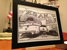 "FRAMED ""KSAN"" 95 FM SAN FRANCISCO - ""A METROMEDIA RADIO STATION"" PROMO AD"