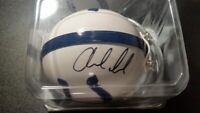 ANDREW LUCK AUTOGRAPHED MINI RIDDELL INDIANAPOLIS COLTS HELMET WITH COA
