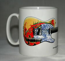 Guitar Mug. Jimmy Page's '59 Fender Telecaster 'Dragon' illustration.