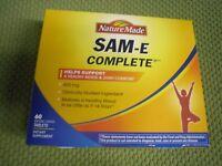 60 Nature Made SAM-e 400 mg Complete Healthy SAMe Sam e Mood Plus 60 Tablet