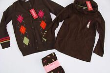 Gymboree Fall Homecoming Girls Size 5-6 Sweater Brown Shoe Leggings Top NWT
