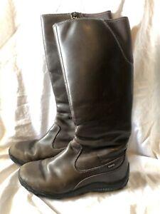 Women's Merrell Saratov Boots Brown Leather Waterproof Goretex Sz 7-7.5 EUR 38