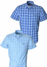 Lacoste Short Sleeve Checked Formal Shirts for Men