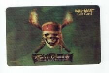 PIRATES of the CARIBBEAN Walmart Gift Card - Movie Lenticular / 3D - Collectible