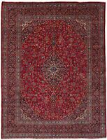 "Hand-knotted Carpet 9'6"" x 12'6"" Traditional Vintage Wool Rug"