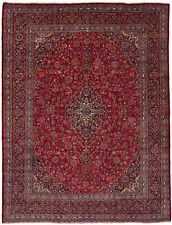 """Hand-knotted Carpet 9'6"""" x 12'6"""" Traditional Vintage Wool Rug"""