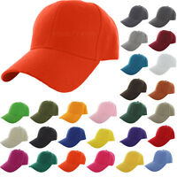 Baseball Cap Plain Fitted Curved Visor Hat Solid Color Blank Hat Fashion