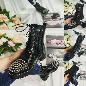 WOMENS LADIES ANKLE LOW HEEL CHUNKY SOLE STUDDED CHELSEA ANKLE BOOTS SHOES SIZE