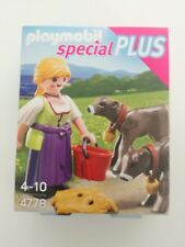 Playmobil 4778 - Country girl with ox / Bauerin mit Kalbchen (MISB, NRFP, OVP)