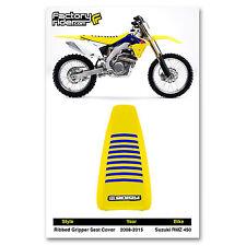 2008-2015 SUZUKI RMZ 450 Yellow/Blue RIBBED GRIPPER SEAT COVER BY Enjoy MFG