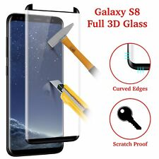 100% Genuine Tempered Glass Screen Protector For Samsung Galaxy S8 - BLACK