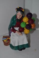 "Vintage Royal Doulton Lady Figurine, The Old Balloon Seller HN 1315 ENGLAND 7"""