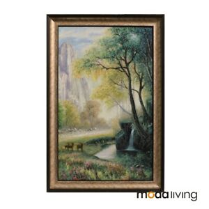 Framed Oil Painting Hand Painted Botanical Classic Canvas Forest Wall Art Trees