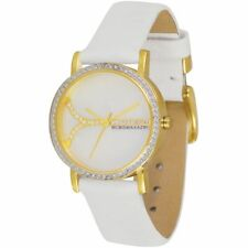 Ladies BCBG Max Azria Soleil Small White Stap & MOP Face Watch BG6245 - RRP £120