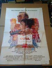 """CUBA Original 1979 1-SHEET MOVIE POSTER 27"""" x 41""""  """"R"""" Rating *BUY ORIGINAL* p1"""